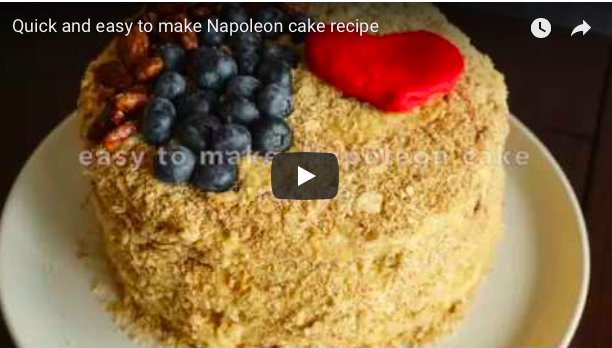 Eat cake first: quick and easy to make Napoleon cakerecipe