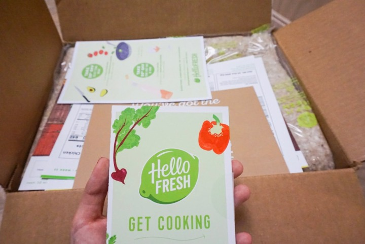 Meal kit delivery services for travelers: Blue Apron and Hello Fresh