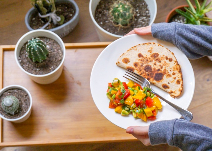 A day of vegetarian life: Mexicanversion